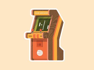 Habiarcade stickermule magnets arcade