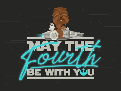 May the 4th be with you! lightsaber porg porgs chewie star wars