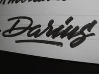Darius Lettering