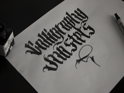 Calligraphy sketch calligraphy lettering typography type handlettering