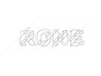 Rone typography typography custom type logo lettering logotype