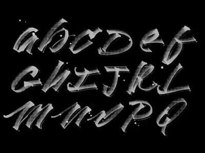 Brush Pen training  typography custom lettering type typerface calligraphy brush pen art handlettering