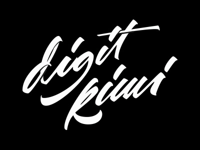 Digit Kiwi logotype type typography lettering handlettering digital art custom logo logotype