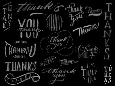 Thank YOU !  lettering typography handlettering type handmade custom