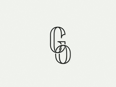 GO Monogram monogram logo logotype branding brand type typography letters