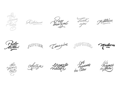 Lettering & Logos lettering logos logo logotype handlettering customlettering type typography