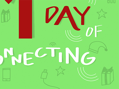 12 Days of Connecting – Day 1 designer illustrator graphic design graphic holiday promotion advent calendar vector icons typography illustration