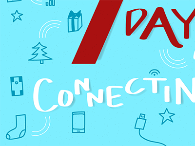 12 Days of Connecting – Day 7 designer illustrator graphic design graphic holiday promotion advent calendar vector icons typography illustration