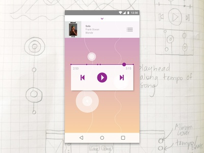 Daily UI #009 – Music Player process sketches mobile design app design ui challenge graphic design design daily ui sound design ui data visualization