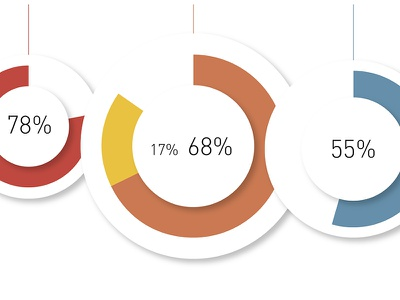 Pie Charts—Issue V: Education journalism data vector graphic design design pie chart infographics graphics