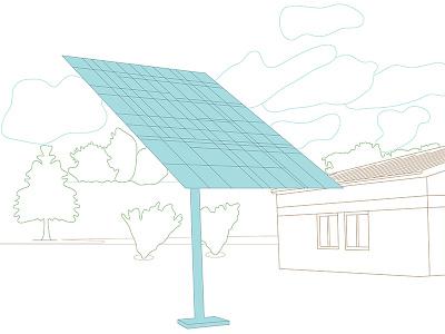 Solar Panel Illustration—Issue III: Environment politics journalism graphic design design illustration vector graphic