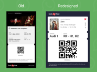 BookMyShow WhatsApp and Email Ticket ticketing ticket booking ticket ticket app movies app bookmyshow whatsapp redesign