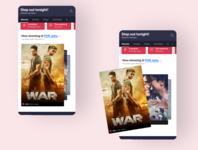 Tinder like swipe for movie app swipes interaction swipe movie poster poster ticket app movie app bookmyshow