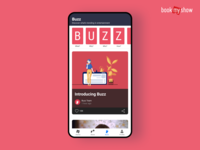 Latest entertainment content and news app | BookMyShow Buzz ui design ui mobile app entertaiment news app stories buzz content ticket app movie app bookmyshow