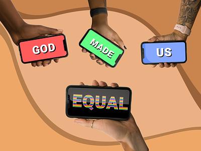 God made us equal #AllHands design illustration all hands