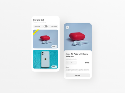 Buy and Sell App Concept store app sell app buy ui design ui design