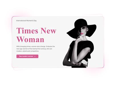 Happy international women's day! womans day website web design ui design ui design