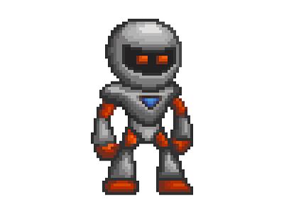 Badbot pixel art robot platformer character