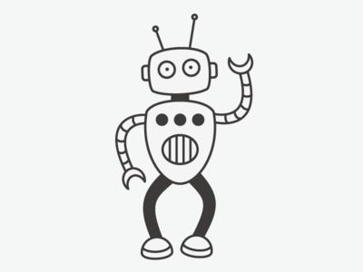 Some robots just like to dernce! robot robotodex dancing illustration