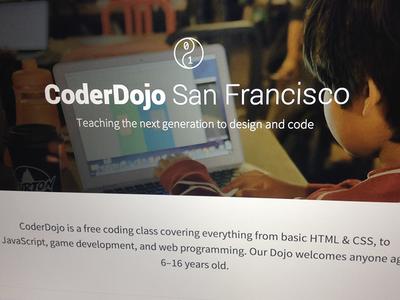 New CoderDojo SF website coderdojo website design code