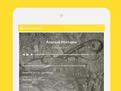 SoundsRadcakes soundradcakes music player mixtapes