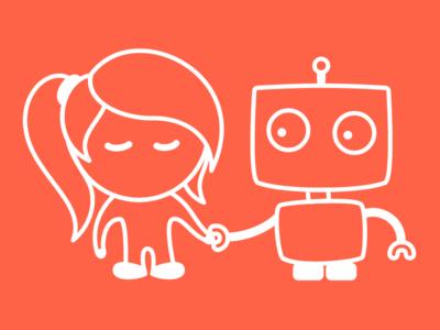 bot and broccolini illustration robot bot broccolini cute