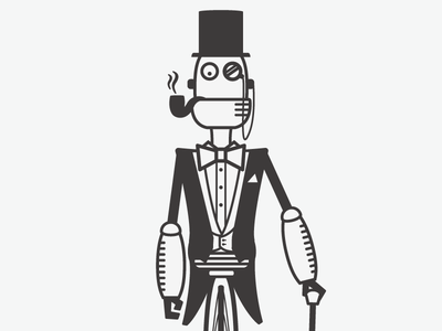 Fancy bot is so fancy robot fancy robotodex illustration tophat and tails