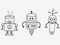 Arvo, Nano, and Electro bots