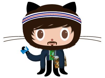 Alexander Kingtocat github octocat illustration