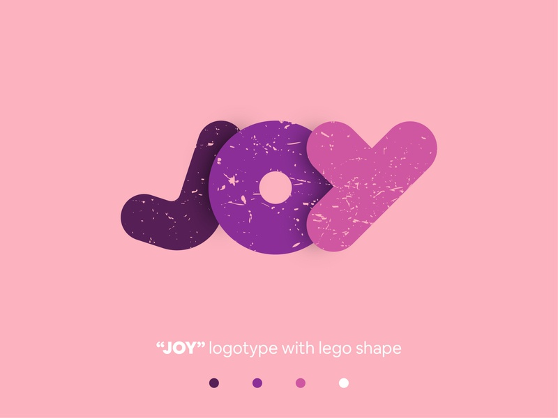 JOY purple pink logo typography joy