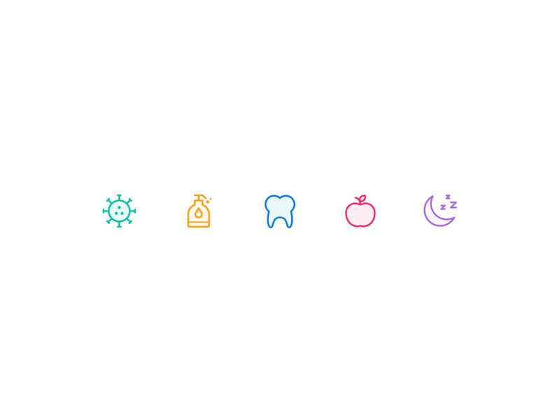 Medical and Health (Iconist) 3 iconist health medical iconset hearth safety skull support brain pill poop moon apple teeth detergent coronavirus virus vector line icon
