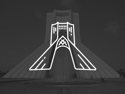 Azadi Tower (Iran's monuments 1) building azadi iran icon line illustration vector tehran city symbol tower