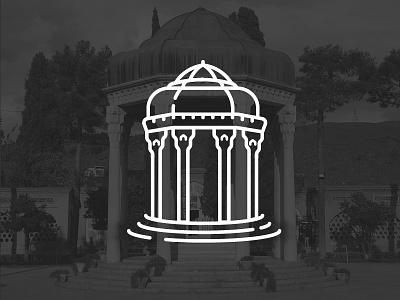 Tomb of Hafez (Iran's monuments 2) building shiraz monuments iran icon line illustration vector city symbol hafez tomb