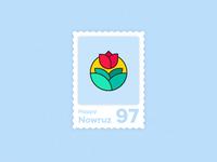 Happy new year stamp nowruz 97 flower year new happy