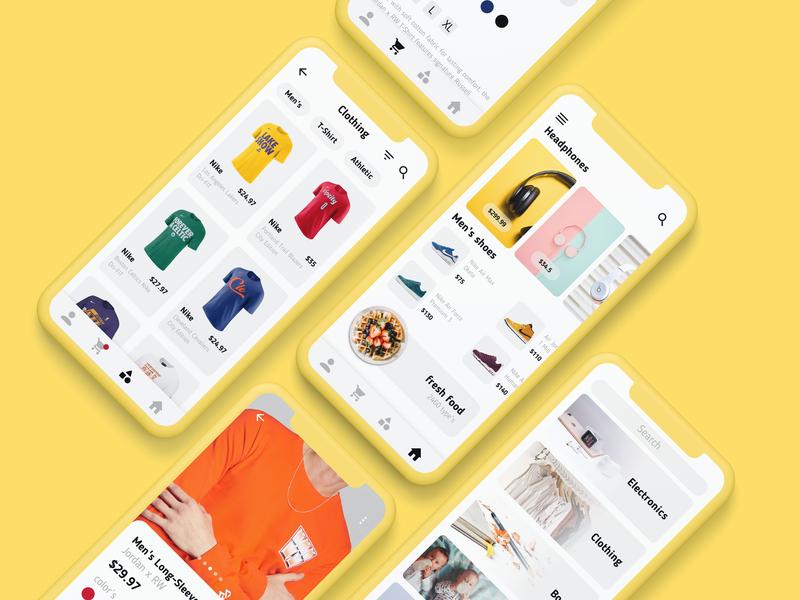 Retail app ui ux app store retail app experience shopping