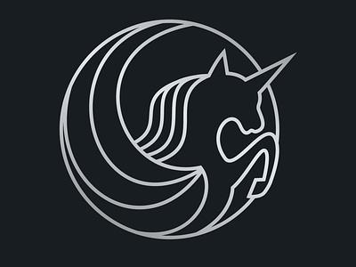 Unicorn Logo jumping mark horse logo beautiful silver animal unicorns horse