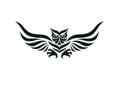 Owl Logo Design owl logo brand sharp simple logo design tattoo animal bird owl logo