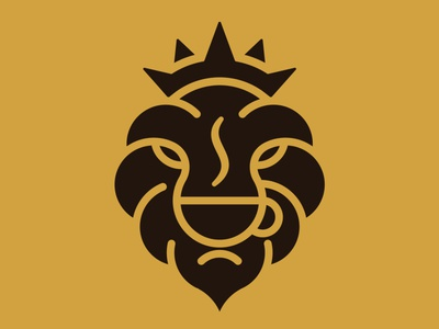 Lion Coffee Logo royal drinking simple lion logo africa safari animal drink cafe coffee lion
