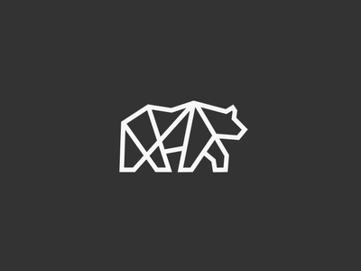 Lineart Bear Logo mark bear logo geometric animal minimalist lineart bear