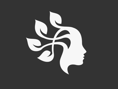 Nature Beauty Logo minimalist simple vector leaf logo cosmetic hair face beauty leaf green