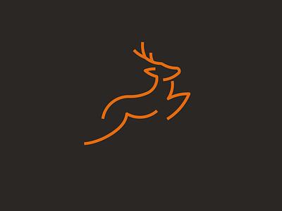 Minimalist Deer Logo deer illustration lineart minimal simple jumping antler minimalist animal logo deer