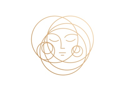 HeadSpace Salon Logo simple salon logo girl women minimalist circle beauty hair salon