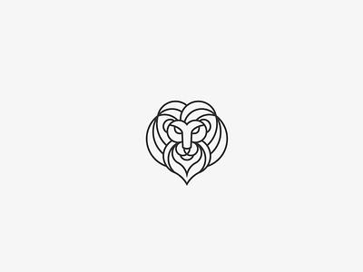 lion head design logo