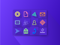 Icons for Anchor connection web app