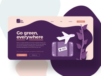 Eco-friendly travelling app web & app UI concept