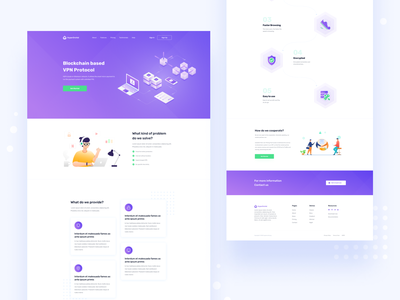 HyperOrchid Landing Page logo illustration design clean branding protocal hyperorchid blockchain design vpn protocal blockchain uxdesign uidesign redesign home page web design landing page vpn