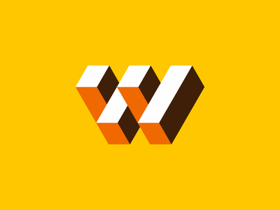 W-M for sale sale icon app letter sign block cube logodesign mark geometic mirror brand identity brandmark symbol flat emblem logo storozhevantosha