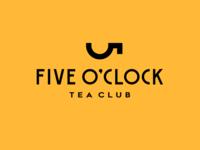 Five O'clock club five mark logodesign for sale emblem brandmark sign logo storozhevantosha teaclub cup symbol