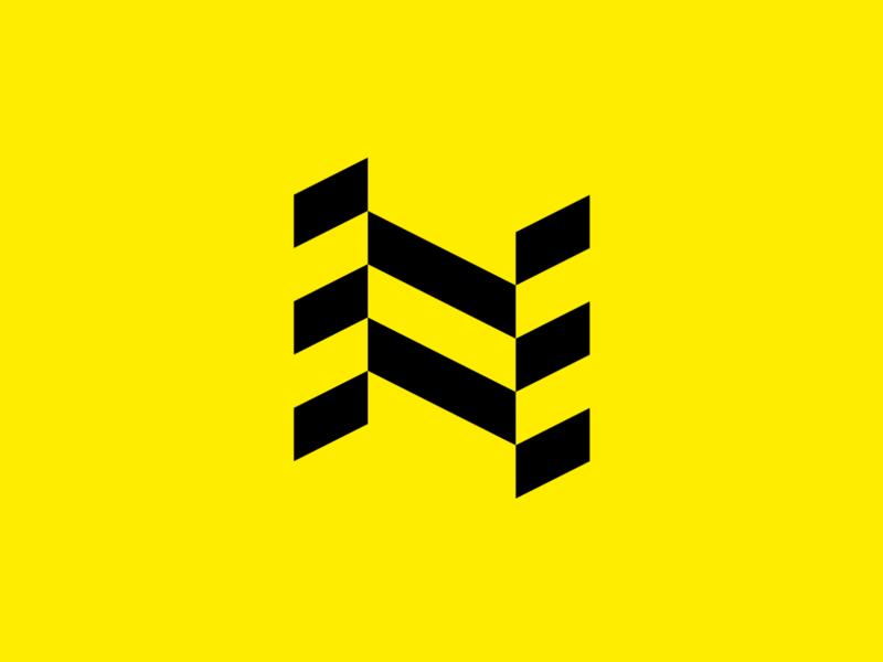 N logotype minimal geometric block n mark for sale emblem brandmark sign logo brand identity app storozhevantosha symbol