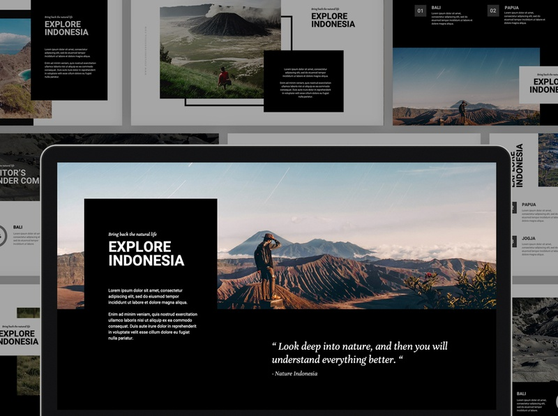 Nature Indonesia Powerpoint Template